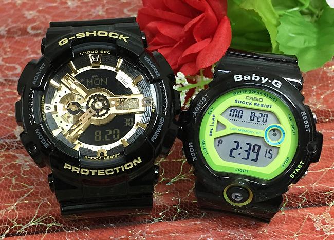 恋人たちのGショックペアウォッチ G-SHOCK BABY-G ペア腕時計 カシオ 2本セット gショック ベビーg アナデジ GA-110GB-1AJF BG-6903-1BJF お揃い プレゼント ギフト 人気 ラッピング無料 新品 メッセージカード手書きします あす楽対応 クリスマスプレゼント