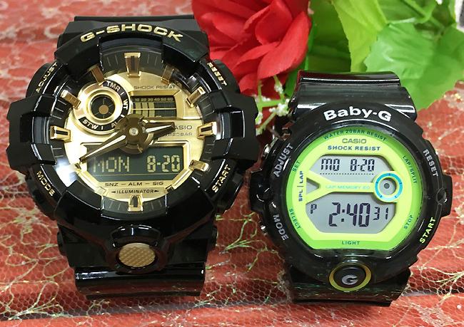 恋人たちのGショック ペアウオッチ BABY-G ペア腕時計 ベビージー カシオ レディース デジタル GA-710GB-1AJF BG-6903-1BJFプレゼント ギフト ラッピング無料 メッージカード手書きのメッセージカードお付けいたします g-shock あす楽対応 クリスマスプレゼント