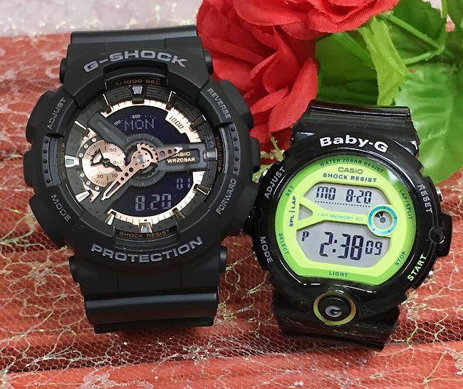 恋人たちのGショック ペアウオッチ Gショック ペア G-SHOCK BABY-G ペア腕時計 カシオ 2本セット GA-110RG-1AJF BG-6903-1BJF gショック ベビーg アナデ人気 ラッピング無料 あす楽対応 クリスマス