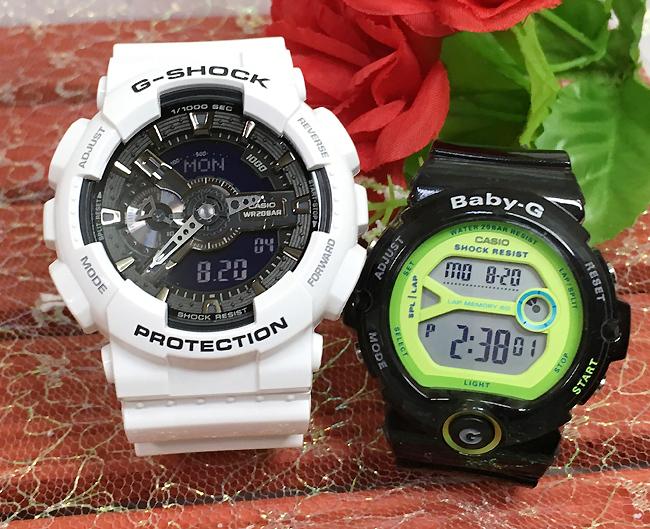 恋人たちのGショック ペアウオッチ G-SHOCK ペア腕時計 カシオ GA-110GW-7AJF BG-6903-1BJFプレゼント ギフト ラッピング無料 メッセージカード g-shock あす楽対応 クリスマスプレゼント