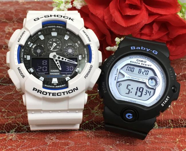 恋人たちのGショック ペアウォッチ G-SHOCK BABY-G ペア腕時計 カシオ 2本セット gショック ベビーg アナデジ GA-100B-7AJF BG-6903-1JF お揃い プレゼント ギフト 人気 ラッピング無料 新品 メッセージカード手書きします あす楽対応 クリスマスプレゼント