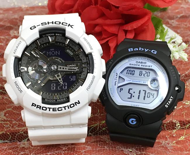 恋人たちのGショック ペアウオッチ G-SHOCK ペア腕時計 カシオ GA-110GW-7AJF BG-6903-1JF プレゼント ギフト ラッピング無料 g-shock あす楽対応 クリスマスプレゼント 手書きのメッセージカードお付けします あす楽対応
