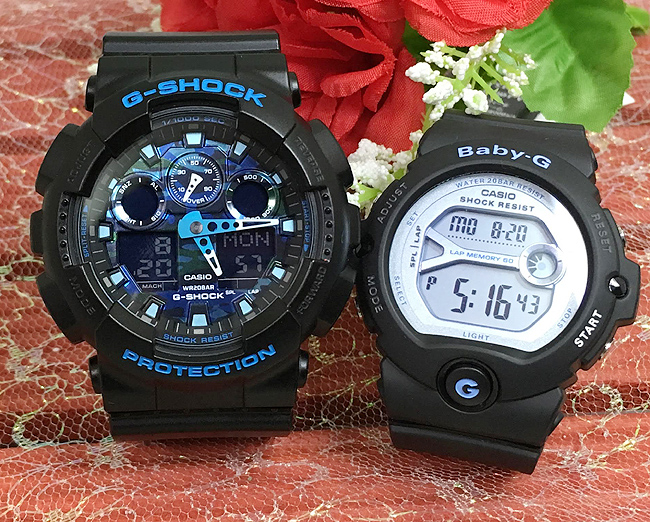 恋人たちのGショックペアウォッチ G-SHOCK BABY-G ペア腕時計 カシオ 2本セット gショック ベビーg アナデジ GA-100CB-1AJF BG-6903-1JF お揃い プレゼント ギフト 人気 ラッピング無料 新品 メッセージカード手書きします あす楽対応 クリスマスプレゼント