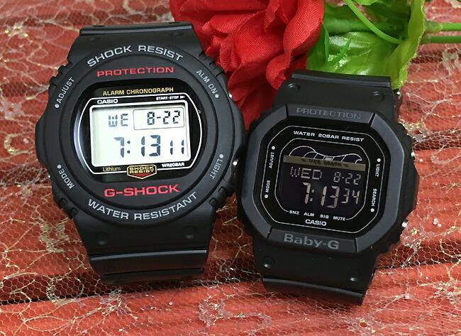 好きだよ恋人たちのGショックペア G-SHOCK BABY-G ペアウォッチ DW5700の復刻版 ペア腕時計 カシオ 2本セット gショック DW-5750E-1JF BLX-560-1JF人気 ラッピング無料 あす楽対応 クリスマス