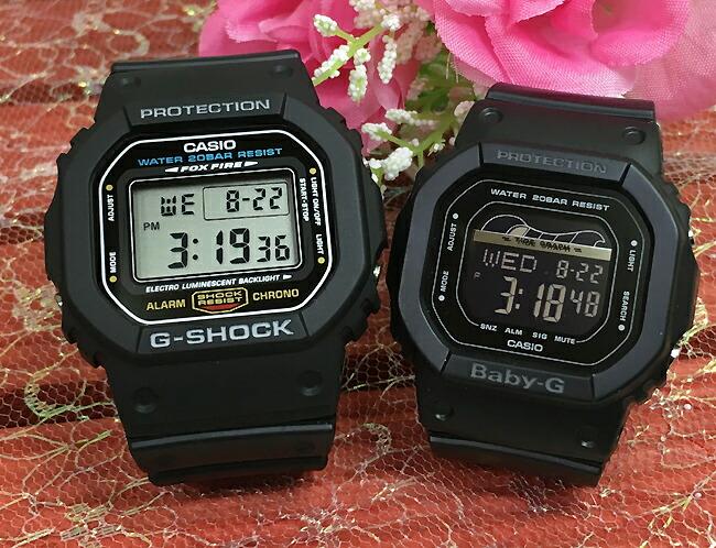 恋人たちのGショック ペアウオッチ G-SHOCK BABY-G ペア腕時計 カシオ 2本セット gショック ベビーg DW-5600E-1 BLX-560-1JF デジタル 人気 ラッピング無料g-shock あす楽対応 クリスマスプレゼント