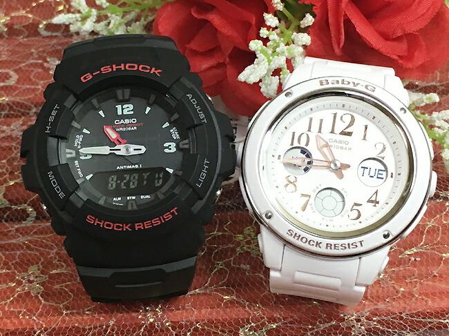 恋人たちのGショック ペアウオッチ G-SHOCK ペア腕時計 カシオ G-100-1BMJF BGA-150EF-7BJFプレゼント ギフト ラッピング無料 メッセージカード g-shock あす楽対応 クリスマスプレゼント