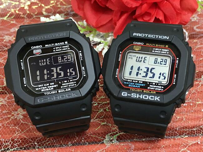 恋人たちのGショック ペアウオッチ G-SHOCK ペア腕時計 カシオ ブラック 黒 2本セット GW-M5610-1BJF GW-M5610-1JF お揃い人気 ラッピング無料 愛の証g-shock あす楽対応