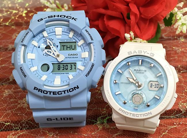 恋人たちのGショック ペアウオッチ G-SHOCK BABY-G ペア腕時計 カシオ 2本セット ペア gショック ベビーg GAX-100CSA-2AJF BGA-250-7A1JF プレゼント ギフト人気 ラッピング無料 g-shock あす楽対応 ブルー青 ホワイト 白 クリスマスプレゼント