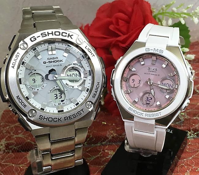好きだよ恋人たちのGショックペア G-SHOCK BABY-G ペアウォッチ ペア腕時計 カシオ 2本セット gショック ベビーg アナデジ GST-W110D-7AJF MSG-W100-7A3JF 人気 ラッピング無料 あす楽対応