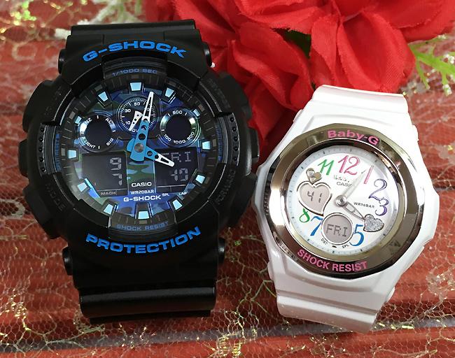 恋人たちのGショック ペアウオッチ G-SHOCK BABY-G ペア腕時計 カシオ 2本セット gショック ベビーg アナデジ GA-100CB-1AJF BGA-101-7B2JFプレゼント ギフト 人気 ラッピング無料 新品メッセージカード手書きします あす楽対応クリスマスプレゼント