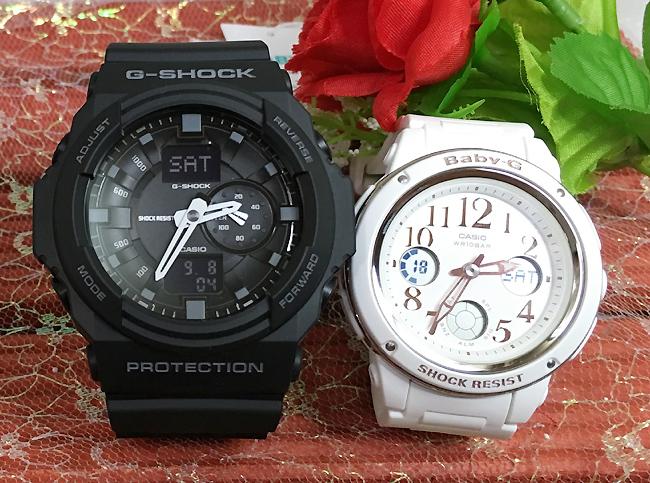 恋人たちのGショック ペアウオッチ G-SHOCK BABY-G ペア腕時計 カシオ 2本セットgショック ベビーg アナデジ GA-150-1AJF BGA-150EF-7BJF人気 ラッピング無料g-shock クリスマスプレゼント