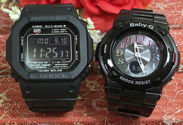 恋人たちのGショック ペアウオッチ G-SHOCK BABY-G ペア腕時計 カシオ ブラック×ホワイト 白 黒 2本セット GW-M5610-1BJF BGA-1110GR-1BJF お揃い人気 ラッピング無料 愛の証g-shock あす楽対応