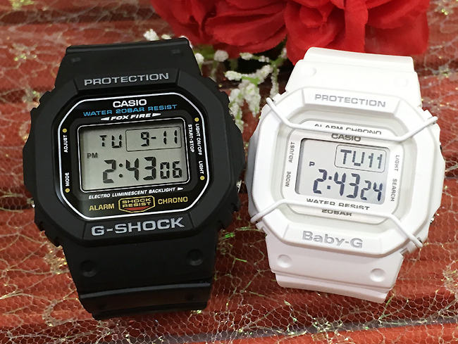 恋人たちのGショック ペアウオッチ G-SHOCK ペア腕時計 カシオ 2本セット gショック ベビーg DW-5600E-1 BGD-501-7JFプレゼント ギフト ラッピング無料 手書きのメッセージカードお付けします あす楽対応 g-shock クリスマスプレゼント