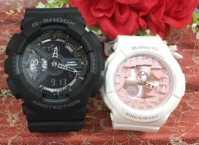 恋人たちのGショック ペアウオッチ G-SHOCK BABY-G ペア腕時計 カシオ 2本セット gショック ベビーg GA-110-1BJF BGA-131-7B2JF プレゼント ギフト 人気 ラッピング無料 新品メッセージカード手書きしますg-shock あす楽対応 クリスマス