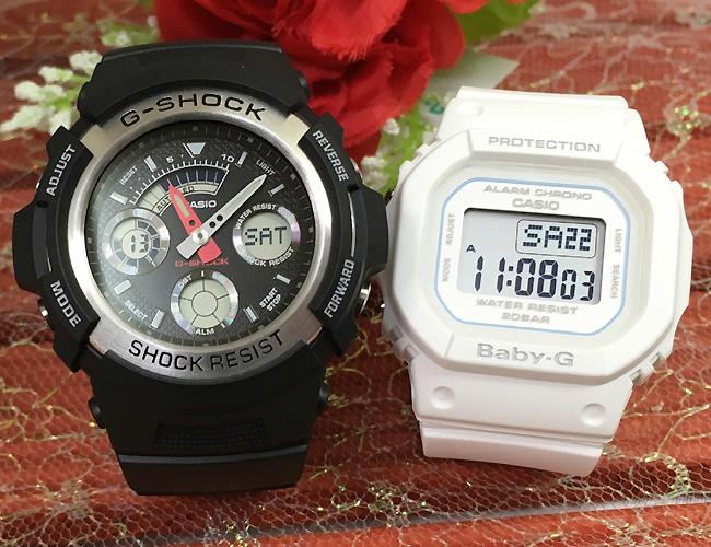 恋人たちのGショック ペアウオッチ G-SHOCK BABY-G ペア腕時計 カシオ 2本セット gショック ベビーg AW-590-1AJF BGD-560-7JF プレゼント ギフト 人気 ラッピング無料 新品メッセージカード手書きします g-shock あす楽対応