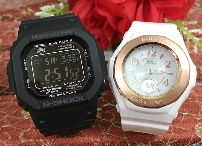 恋人たちのGショックペア G-SHOCK BABY-G ペアウォッチ ペア腕時計 カシオ 2本セット gショック 電波ソーラー GW-M5610-1BJF BGA-1050BLG-7BJF 人気 ラッピング無料 あす楽対応