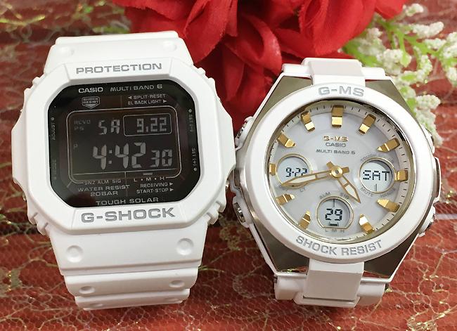 恋人たちのGショックペア G-SHOCK BABY-G ペアウォッチ ペア腕時計 カシオ 2本セット gショック 電波ソーラー GW-M5610MD-7JF MSG-W100-7A2JF 人気 ラッピング無料 あす楽対応