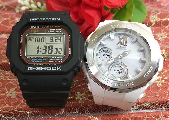 恋人たちのGショックペア G-SHOCK BABY-G ペアウォッチ ペア腕時計 カシオ 2本セット gショック 電波ソーラー GW-M5610-1JF BGA-2200-7BJF 人気 ラッピング無料 あす楽対応 クリスマスプレゼント