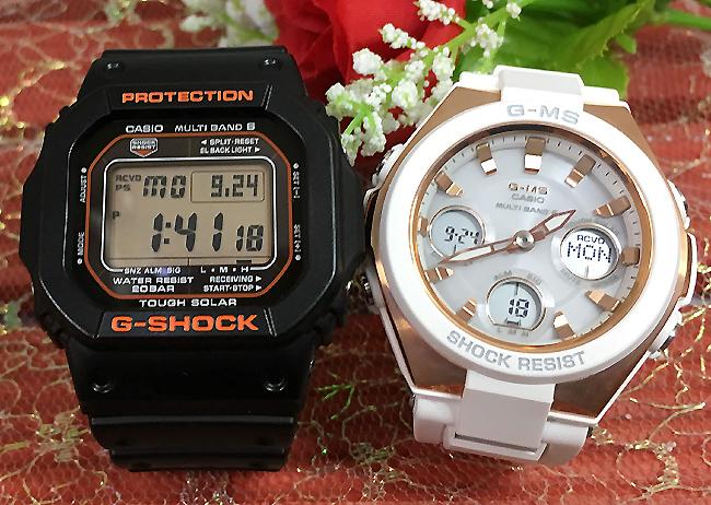 恋人たちのGショックペア G-SHOCK BABY-G ペアウォッチ ペア腕時計 カシオ 2本セット gショック 電波ソーラー GW-M5610R-1JF MSG-W100G-7AJF 人気 ラッピング無料 あす楽対応 クリスマスプレゼント