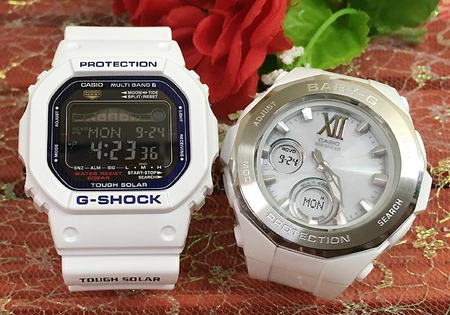 恋人たちのGショックペア G-SHOCK BABY-G ペアウォッチ ペア腕時計 カシオ 2本セット gショック 電波ソーラー GWX-5600C-7JF BGA-2200-7BJF 人気 ラッピング無料 あす楽対応 クリスマスプレゼント
