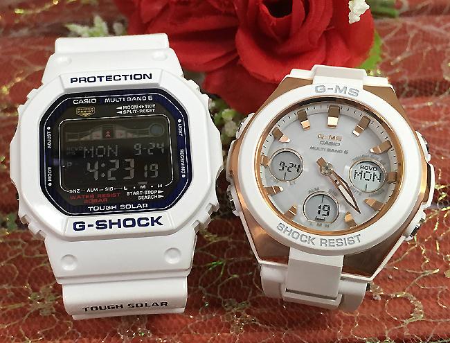 恋人たちのGショックペア G-SHOCK BABY-G ペアウォッチ ペア腕時計 カシオ 2本セット gショック 電波ソーラー GWX-5600C-7JF MSG-W100G-7AJF人気 ラッピング無料 あす楽対応 クリスマスプレゼント