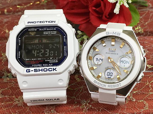 恋人たちのGショックペア G-SHOCK BABY-G ペアウォッチ ペア腕時計 カシオ 2本セット gショック 電波ソーラー GWX-5600C-7JF MSG-W100-7A2JF人気 ラッピング無料 あす楽対応