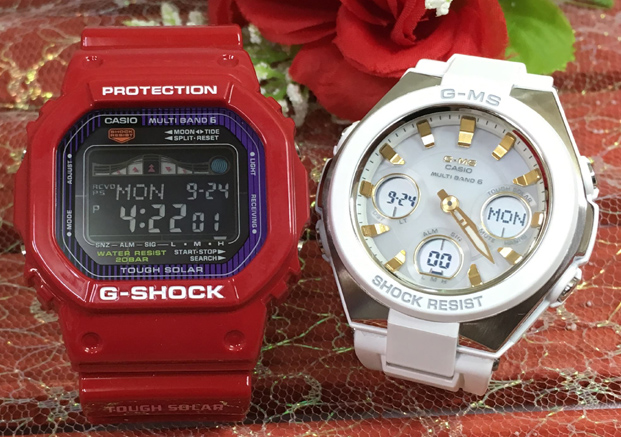 恋人たちのGショックペアウォッチ G-SHOCK BABY-G ペア腕時計 カシオ 2本セット gショック 電波ソーラー GWX-5600C-4JF MSG-W100-7A2JF人気 ラッピング無料 あす楽対応 クリスマスプレゼント