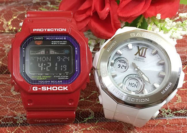 恋人たちのGショックペア G-SHOCK BABY-G ペアウォッチ ペア腕時計 カシオ 2本セット gショック 電波ソーラー GWX-5600C-4JF BGA-2200-7BJF 人気 ラッピング無料 あす楽対応 クリスマスプレゼント