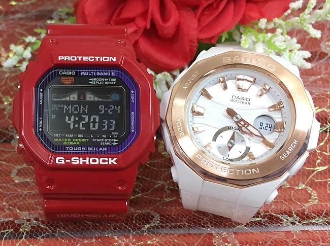 恋人たちのGショック ペアウオッチ G-SHOCK BABY-G ペア腕時計 カシオ 2本セット gショック ベビーg アナデジ GWX-5600C-4JF BGA-220G-7AJF プレゼント ギフト ラッピング無料 メッセージカード g-shock あす楽対応 あす楽対応 クリスマスプレゼント