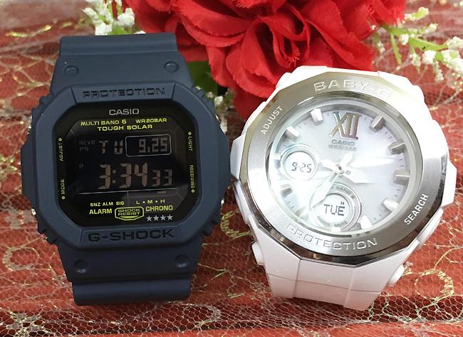 恋人たちのGショックペア G-SHOCK BABY-G ペアウォッチ ペア腕時計 カシオ 2本セット gショック 電波ソーラー GW-M5610NV-2JF BGA-2200-7BJF人気 ラッピング無料 あす楽対応