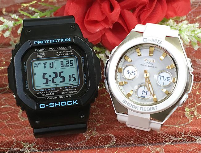 恋人たちのGショックペア G-SHOCK BABY-G ペアウォッチ ペア腕時計 カシオ 2本セット gショック 電波ソーラー GW-M5610BA-1JF MSG-W100-7A2JF 人気 ラッピング無料 あす楽対応