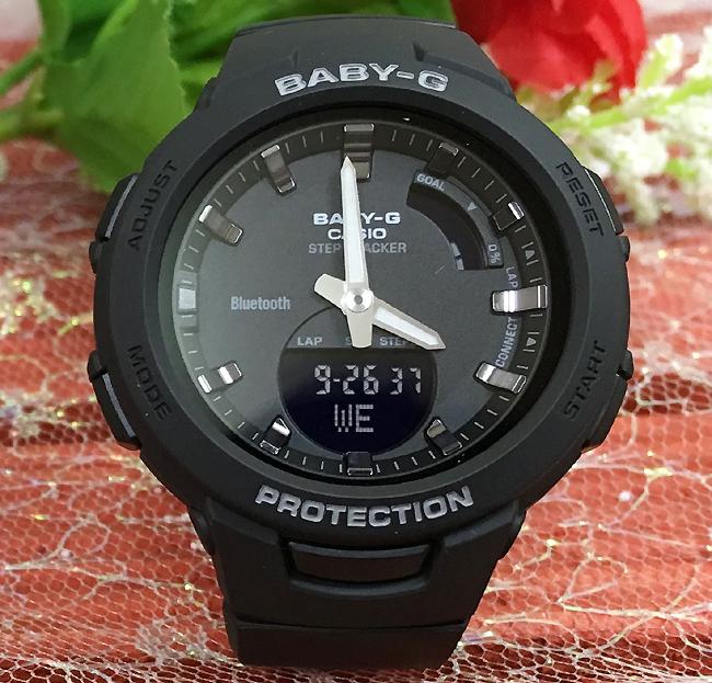 BABY-G G-SQUAD カシオ BSA-B100-1AJF Bluetooth対応 クオーツ プレゼント腕時計 ギフト 人気 ラッピング無料 baby-g携帯電話との無線通信による機能連動 国内正規品 新品 メッセージカード手書きします あす楽対応 クリスマスプレゼント