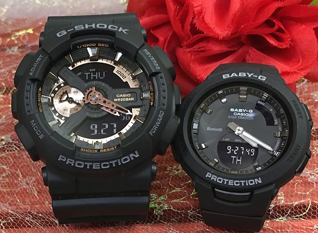 恋人たちのGショック ペアウオッチG-SHOCK BABY-G ペア腕時計 カシオ 2本セット gショック ベビーg GA-110RG-1AJF BSA-B100-1AJF お揃い人気 ラッピング無料 愛の証g-shock あす楽対応 ブラック 黒 クリスマス