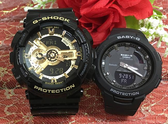 恋人たちのGショック ペアウオッチ G-SHOCK BABY-G ペア腕時計 カシオ 2本セット gショック ベビーg アナデジ GA-110GB-1AJF BSA-B100-1AJF プレゼント ギフト ラッピング無料 メッセージカード g-shock あす楽対応 クリスマスプレゼント