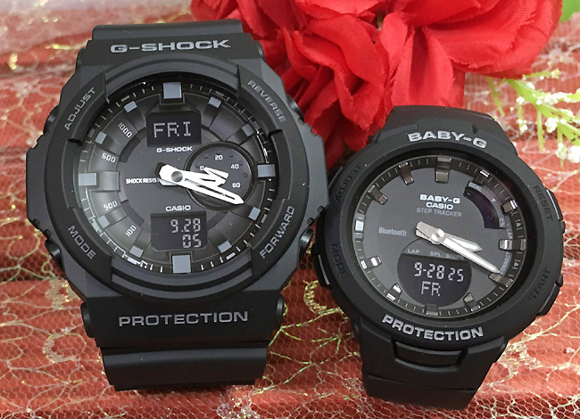 恋人たちのGショック ペアウオッチ G-SHOCK BABY-G ペア腕時計 カシオ 2本セット gショック ベビーg アナデジ GA-150-1AJF BSA-B100-1AJF 人気 ラッピング無料 g-shock あす楽対応 クリスマスプレゼント