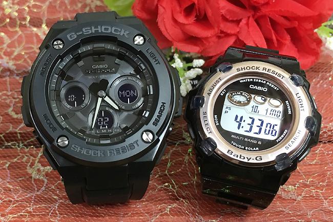 恋人たちのGショックペア G-SHOCK BABY-G ペアウォッチ ペア腕時計 カシオ 2本セット gショック ベビーg アナデジ GST-W300G-1A1JF BGR-3003-1JF人気 ラッピング無料