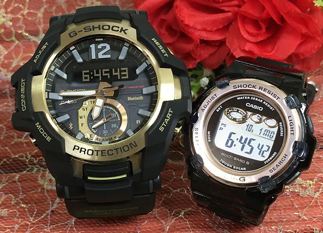 恋人たちのGショックペアウォッチ G-SHOCK BABY-G ペア腕時計 カシオ 2本セット gショック 電波ソーラー GR-B100GB-1AJF BGR-3003-1JF 人気 ラッピング無料 あす楽対応 Bluetooth 搭載モデル あす楽対応 クリスマスプレゼント