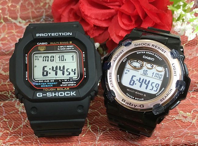 恋人たちのGショックペア G-SHOCK BABY-G ペアウォッチ ペア腕時計 カシオ 2本セット gショック 電波ソーラー GW-M5610-1JF BGR-3003-1JF 人気 ラッピング無料 あす楽対応 クリスマスプレゼント