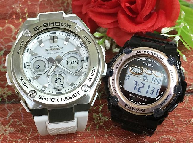 恋人たちのGショック ペア G-SHOCK BABY-G ペアウォッチ ペア腕時計 カシオ 2本セット gショック ベビーg GST-W310-7AJF BGR-3003-1JF大人のG-SHOCK 電波ソーラー 人気 ラッピング無料 あす楽対応