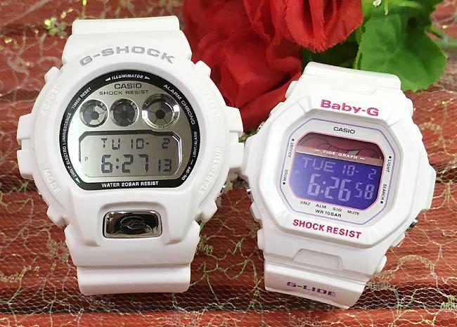 恋人たちのGショック ペアウオッチ G-SHOCK BABY-G ペア腕時計 カシオ 2本セット gショック ベビーg DW-6900MR-7JF BLX-5600-7JFデジタル人気 ラッピング無料g-shock あす楽対応 クリスマスプレゼント