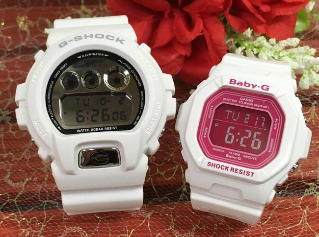 恋人たちのGショック ペアウオッチ G-SHOCK BABY-G ペア腕時計 カシオ 2本セット gショック ベビーg DW-6900MR-7JF BG-5601-7JFデジタル お揃い人気 ラッピング無料 愛の証g-shock あす楽対応 クリスマスプレゼント