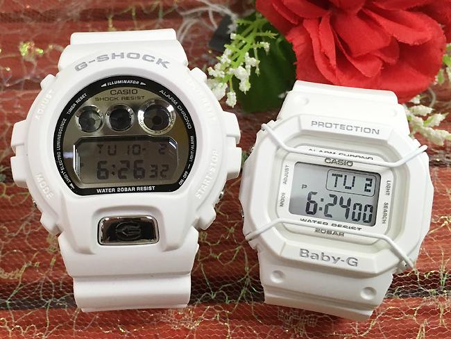 恋人たちのGショック ペアウオッチ ブラック&ホワイト G-SHOCK ペア腕時計 カシオ DW-6900MR-7JF BGD-501-7JF プレゼント ギフト ラッピング無料 手書きのメッセージカードお付けします あす楽対応 g-shock クリスマスプレゼント
