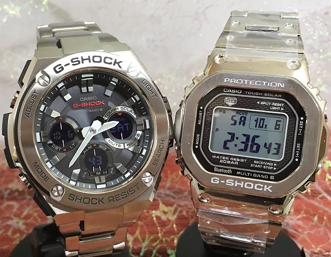 恋人たちのGショック ペア G-SHOCKペアウォッチ ペア腕時計 カシオ 2本セット gショック ベビーg GMW-B5000D-1JF GST-W110D-1AJF 大人のG-SHOCK お揃い 人気 ラッピング無料 あす楽対応