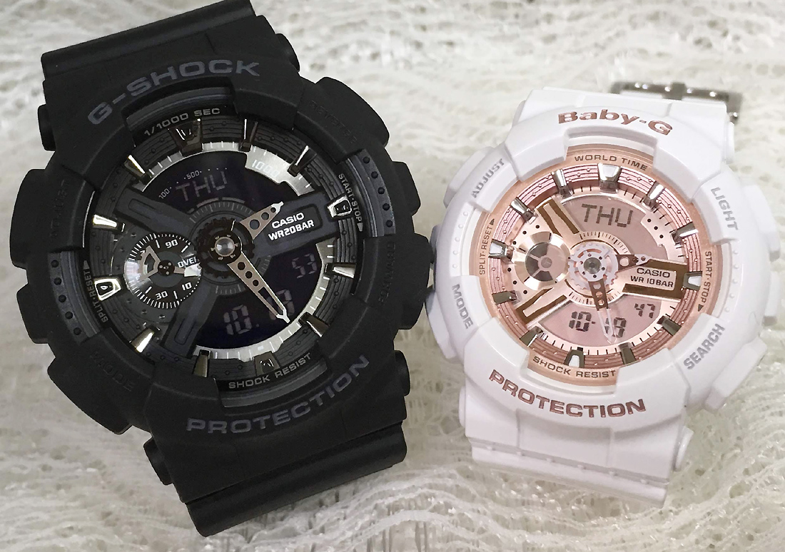 Proof Of The G Shock Pair Watch G Shock Baby G Pair Watch Casio Two Set G Shock Baby G Ga 110 1bjf Ba 110 7a1jf Present Giftwrapping For Free Message