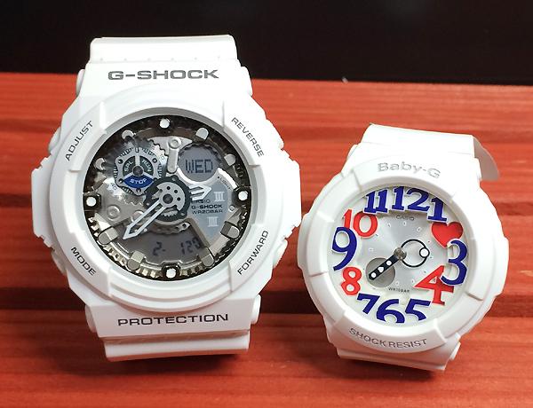恋人たちのGショック ペアウオッチ G-SHOCK BABY-G ペア腕時計 カシオ 2本セット gショック ベビーg アナデジ GA-300-7AJF BGA-130TR-7BJF ラッピング無料 g-shock ペアウオッチ ホワイトデー
