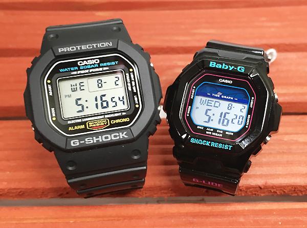 恋人たちのGショック ペアウオッチ G-SHOCK BABY-G ペア腕時計 カシオ 2本セット gショック ベビーg DW-5600E-1 BLX-5600-1JF デジタル 人気 ラッピング無 g-shock あす楽対応 クリスマスプレゼント
