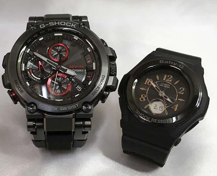 大人達のGショックペアウォッチ G-SHOCK BABY-G ペア腕時計 カシオ 2本セット gショック 電波ソーラー MTG-B1000B-1AJF BGA-1050B-1BJF 人気 ラッピング無料 クリスマスプレゼント