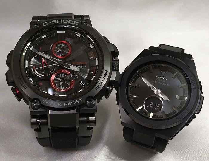 大人達のGショックペアウォッチ G-SHOCK BABY-G ペア腕時計 カシオ 2本セット gショック 電波ソーラー MTG-B1000B-1AJF MSG-W200G-1A2JF 人気 ラッピング無料 あす楽対応 クリスマスプレゼント