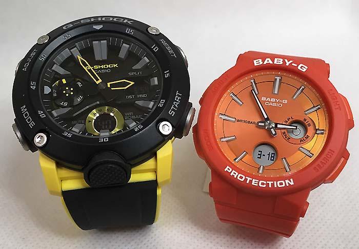 恋人たちのGショックペアウオッチ G-SHOCK BABY-G ペア腕時計 カシオ 2本セットgショック ベビーg アナデジ GA-2000-1A9JF BGA-255-4AJF 人気 ラッピング無料 g-shock メッセージカード手書きします あす楽対応 クリスマスプレゼント