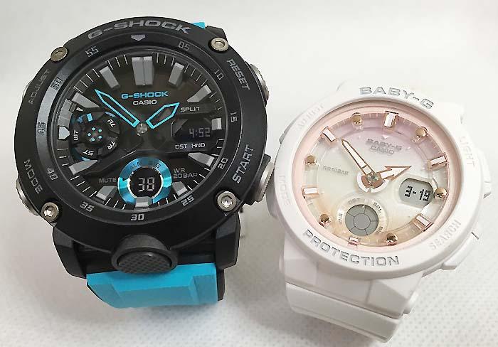 恋人たちのGショックペアウオッチ G-SHOCK BABY-G  ペア腕時計 カシオ 2本セットgショック ベビーg アナデジ GA-2000-1A2JF BGA-250-7A2JF スマート人気 ラッピング無料 g-shock メッセージカード手書きします あす楽対応:時計のジュエリータイム ムラタ